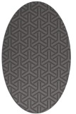 rug #505725 | oval brown retro rug