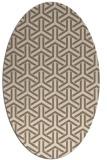 rug #505729   oval beige retro rug