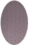 rug #505757 | oval purple retro rug