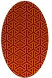 rug #505765 | oval red-orange geometry rug