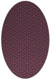 rug #505801   oval purple retro rug