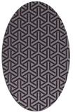 rug #505813   oval purple retro rug