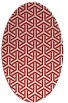 rug #505817 | oval red retro rug