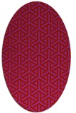 rug #505829 | oval red retro rug
