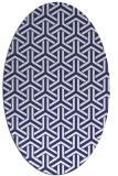 rug #505857 | oval white geometry rug