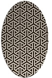 rug #505873 | oval brown retro rug
