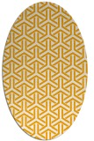 rug #505913 | oval light-orange retro rug