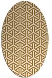 rug #505915 | oval geometry rug