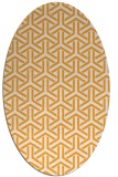 rug #505925 | oval light-orange retro rug
