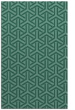 rug #505985 |  blue-green retro rug