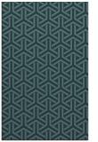 rug #506001 |  blue-green retro rug