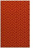 rug #506117 |  orange retro rug