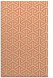 rug #506125 |  orange retro rug