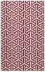 rug #506141 |  pink retro rug