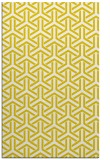 rug #506229 |  yellow retro rug