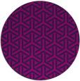 rug #506309 | round pink retro rug
