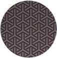 rug #506389 | round blue-violet rug