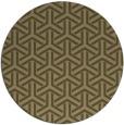 rug #506401   round brown retro rug