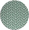 rug #506413 | round green geometry rug
