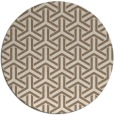 rug #506433   round mid-brown retro rug