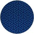rug #506449 | round blue geometry rug