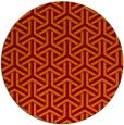 rug #506469   round red-orange retro rug