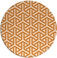 rug #506473 | round orange geometry rug