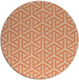 rug #506477 | round orange retro rug