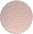 rug #506501 | round pink retro rug