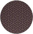 rug #506513   round mid-brown retro rug