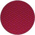 rug #506533 | round red retro rug