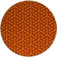 rug #506537 | round red-orange rug