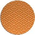 rug #506541 | round red-orange retro rug