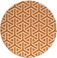 rug #506549 | round red-orange retro rug
