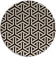 rug #506577 | round brown retro rug