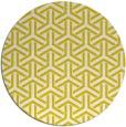 rug #506581 | round yellow retro rug