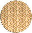 rug #506629 | round light-orange geometry rug