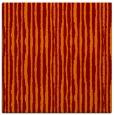 rug #507173 | square red-orange stripes rug