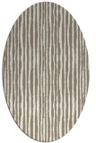 rug #507337 | oval white stripes rug