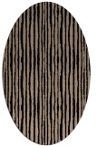 rug #507349 | oval beige stripes rug