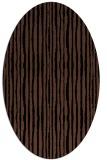 rug #507353 | oval brown stripes rug