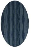 rug #507369 | oval blue rug