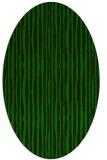 rug #507405 | oval green rug