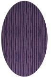 rug #507433 | oval purple stripes rug