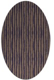 rug #507445 | oval beige stripes rug