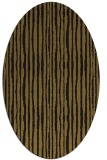 rug #507453 | oval mid-brown stripes rug