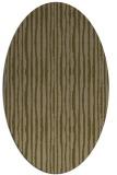 rug #507457 | oval brown stripes rug