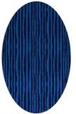 rug #507505   oval blue stripes rug