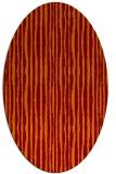 rug #507525 | oval red-orange stripes rug