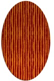 rug #507527 | oval stripes rug
